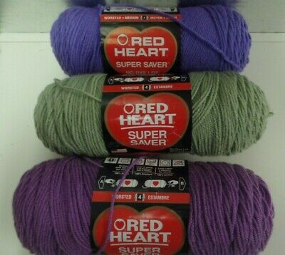 Red Heart Super Saver--7 Oz--3 Colors To Choose From