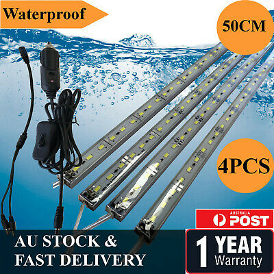 4X12V Waterproof Cool White 5630 Camping Led Strip Lights Bars Boat Car Caravan