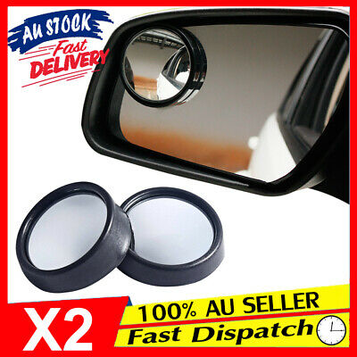2x Rear Car Blind Spot Side Glass 360° Wide Angle View Adjustable Convex Mirror