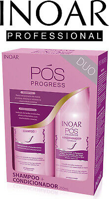 Inoar Pos Progress Duo Shampoo and Conditioner for Straightened Hair - 250ml x 2