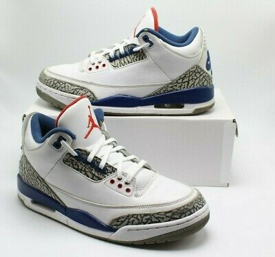 low priced 4e3ad e63a3 Air Jordan 3 True Blue White Retro 2016 OG Size 9 854262-106