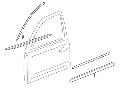 Genuine Ford AG1Z-5420878-AA Door Molding