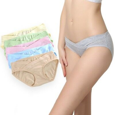 5Pcs Cotton Maternity Panties Low Rise Waist Briefs Pregnant Underwear Knickers