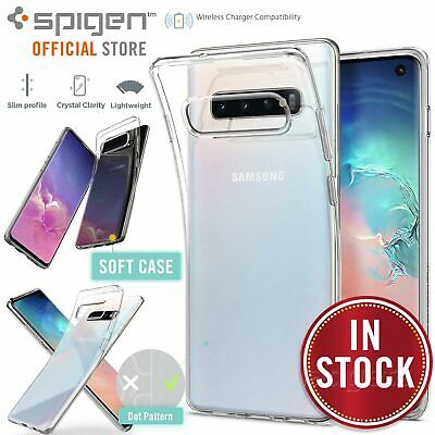 Galaxy S10 case, Genuine SPIGEN Slim Liquid Crystal Soft Clear Cover for Samsung