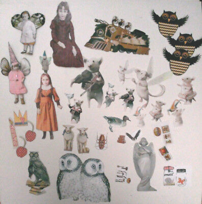 Assorted Pre-cut card stock photo paper characters scrapbooking mixed art Lot