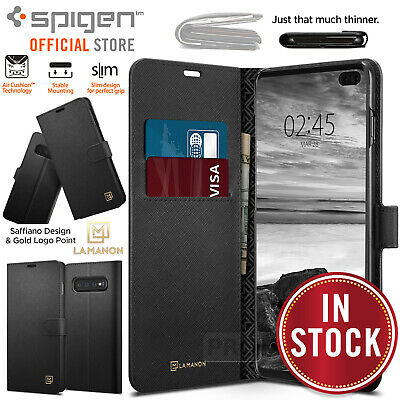 Galaxy S10/Plus S10e Case Cover Genuine SPIGEN La Manon Wallet Card for Samsung