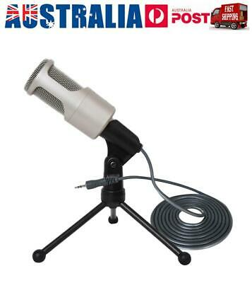 3.5mm Desktop Microphone Sound Recording Audio Studio Brocasting w/ Tripod Stand