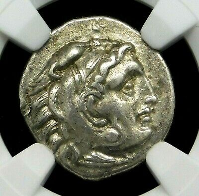 NGC Ch XF. Alexander the Great. Outstanding Drachm. Ancient Greek Silver Coin