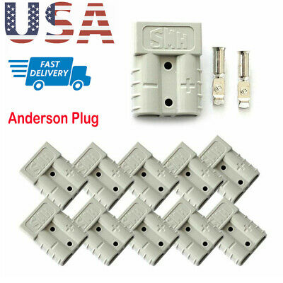 1/5/10PCS 50Amp 12v 24v Plug Carvan Charger Battery DC Power Connector Plugs Set