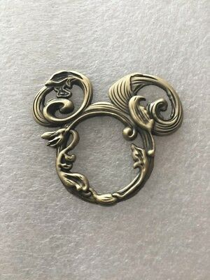 Disney Pin MICKEY ICON HEAD BRONZE VINES - 1 PIN AS SHOWN-US SELLERFast Shipping