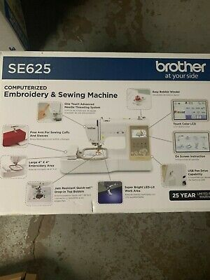 Brother SE625 COMBINATION COMPUTERIZED SEWING EMBROIDERY MACHINE 4X4 BRAND NEW