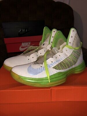 169f924e9197 NIKE HYPERDUNK 2012 Size 9.5 White Green USED With Box -  17.49 ...