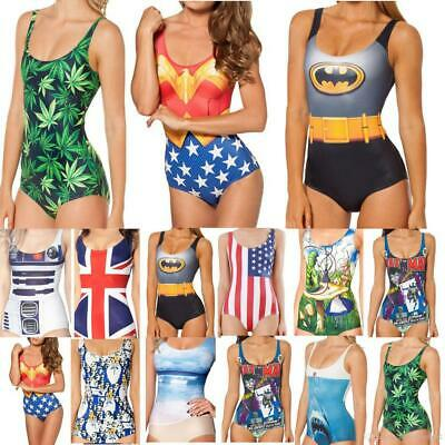 Printed Character Bathers One Piece Swim Suits