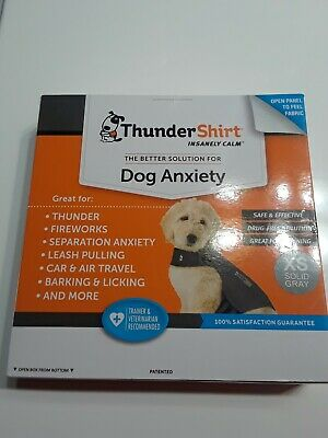 ThunderShirt Insanely Calm Dog Anxiety Size XS 8-14 lbs(NEW) Solid Gray