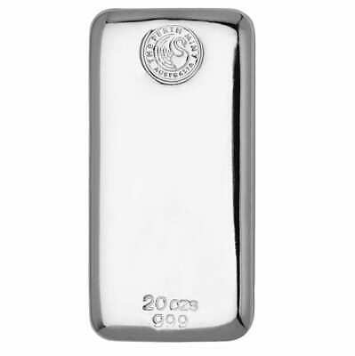 Perth Mint 20oz .999 Silver Cast Bullion Bar
