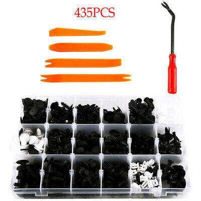435* Car Body Trim Clips Retainer Bumper Rivets Screw Panel Push Fastener Kit