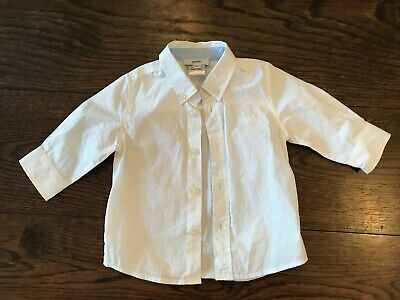 Hugo Boss Baby Boys Smart White Shirt - Size Age 6 Months 6M - Rrp $80