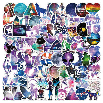 100Pc Mixed Galaxy Stickers Stars Dream Anime Cartoon Sticker DIY Luggage Laptop
