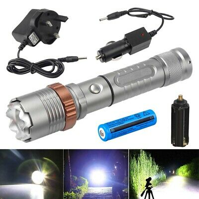Ultrafire Tactical T6 LED 20000LM 18650 Rechargeable Zoomable Torch Flashlight