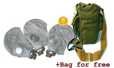 3 pieces Size - 2 Soviet Russian Military Gas mask Gray GP-5. Only masks. New