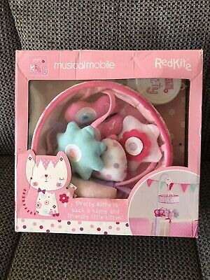 pink musical cot mobile