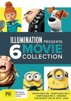 Illumination Presents 6 Movie Collection BRAND NEW R4 Despicable Me Minions Sing