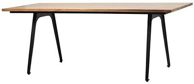 """79"""" L Azzurra Dining Table Hand Crafted Exotic Acacia Wood Solid Iron Legs"""
