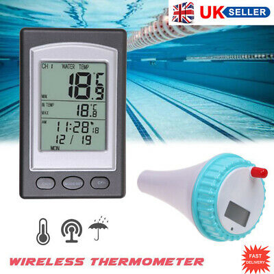Wireless Solar Power Floating Pool Digital Swimmin Pool SPA Floating Thermometer