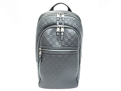 b7e9fed4ecc Louis Vuitton N41330 Michael Damier Anfini Onyx Backpack Shoulder Day Bag  Used
