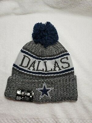 Dallas Cowboys Beanie Knit New Era On-Field NFL 2018 Cap Hat Blue Zeke  Prescott c144bed53327