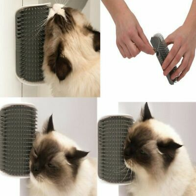 Pet Cat Self Groomer Brush Wall Corner Grooming Massage Comb Toy & Catnip Lot