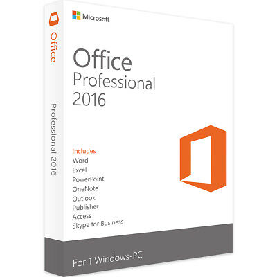 Microsoft Office 2016 - Word, PowerPoint, Excel, Outlook, Publisher