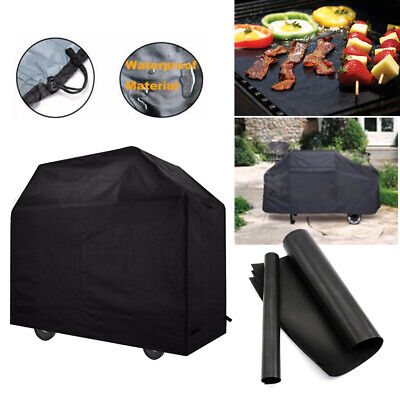 Large BBQ Cover Barbecue Outdoor Waterproof Reusable Grill Mat Sheet Protector