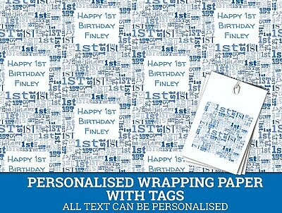 Personalised Happy 1st Birthday Wrapping Paper