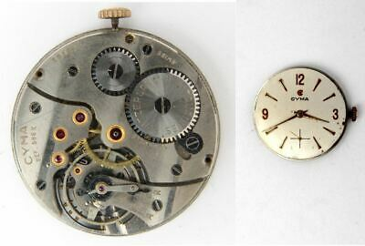 CYMA 586K vintage original manual wind gent s watch movement working ... d4415f19e88e