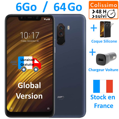 NEUF Pocophone F1 Bleu - 6Go/64 Go - 💛 Colissimo 48H + ⚡Chargeur voiture⚡