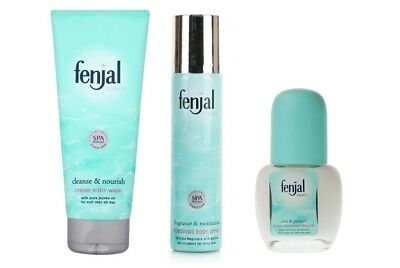 TRIO Fenjal Classic Creme Body Wash 200ml +  Body Spray 75ml + Roll-On 50ml