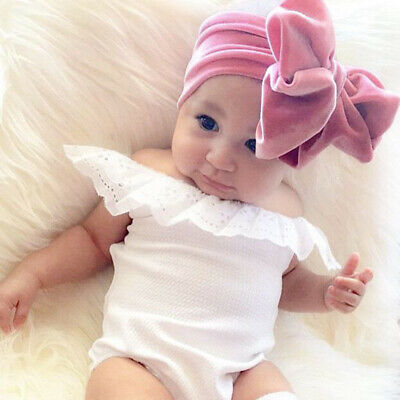 New Infant Baby Toddler Big Knot Gold Velvet Hair Band Kids Party Accessories N7
