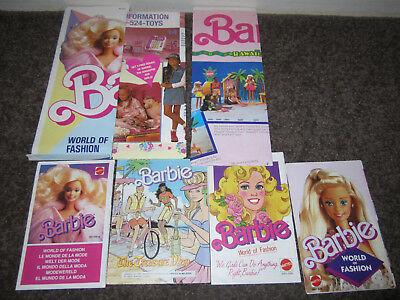 VINTAGE BARBIE POSTERS AND BOOKLETS COLLECTION 1980s & 90s RARE HTF