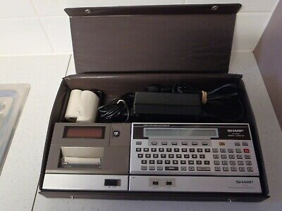 Vintage Sharp PC-1500A Pocket Computer with Printer Interface,