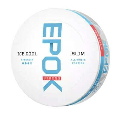 Snus Epok Strong Ice Cool Mint White Portion! 1 Can!
