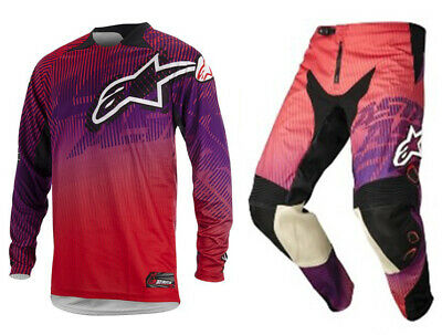 Alpinestars Charger Kit Red/Purple MX Motocross Quad off road Gear Adults
