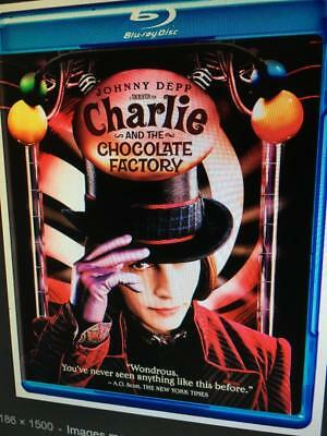 CHARLIE AND THE CHOCOLATE FACTORY -  Used BLU-RAY Disc ONLY * READ DESCRIPTION
