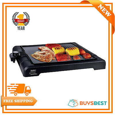Wahl Table Top Grill Griddle Flat Plate, Electric BBQ Non Stick Hot Plate, 1500W
