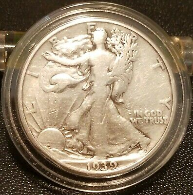 1939-D Walking Liberty Half Dollar IN VERY GOOD CONDITION--BRIGHT & SHINY!