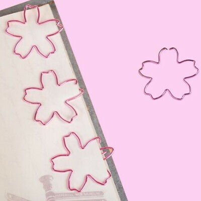 12Pcs/Set Pink Sakura High Quality Plated Bookmark Paper Needle Paper Clips N7