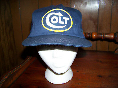 6415579a098 COLT 45 TRUCKER Hat mesh hat snap back hat black Macho man beer hat ...