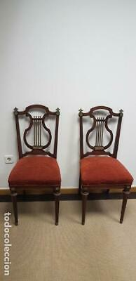 219- Ancient And Elegant Pair Of Chairs Style Frances Very Good Condition