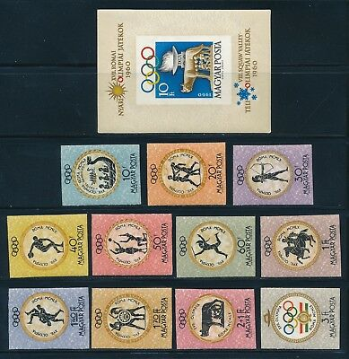 Hungary - Rome Olympic Games MNH Imperf Set (1960) $60