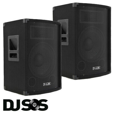 "PAIR Pulse PVS12 12"", 300W Passive DJ Speakers Disco PA Party Speaker Cabinets"